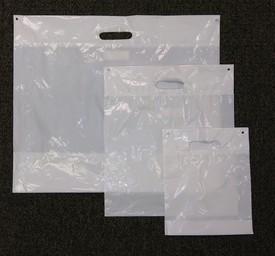 white die-cut handle bags