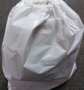 """white 16"""" x 18"""" drawstring bag"""