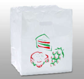 die cut handle take out bags