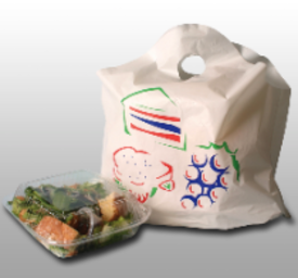 take out bags with wave top handle