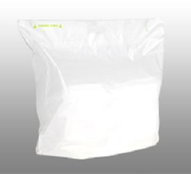 plain white tamper evident carryout bag
